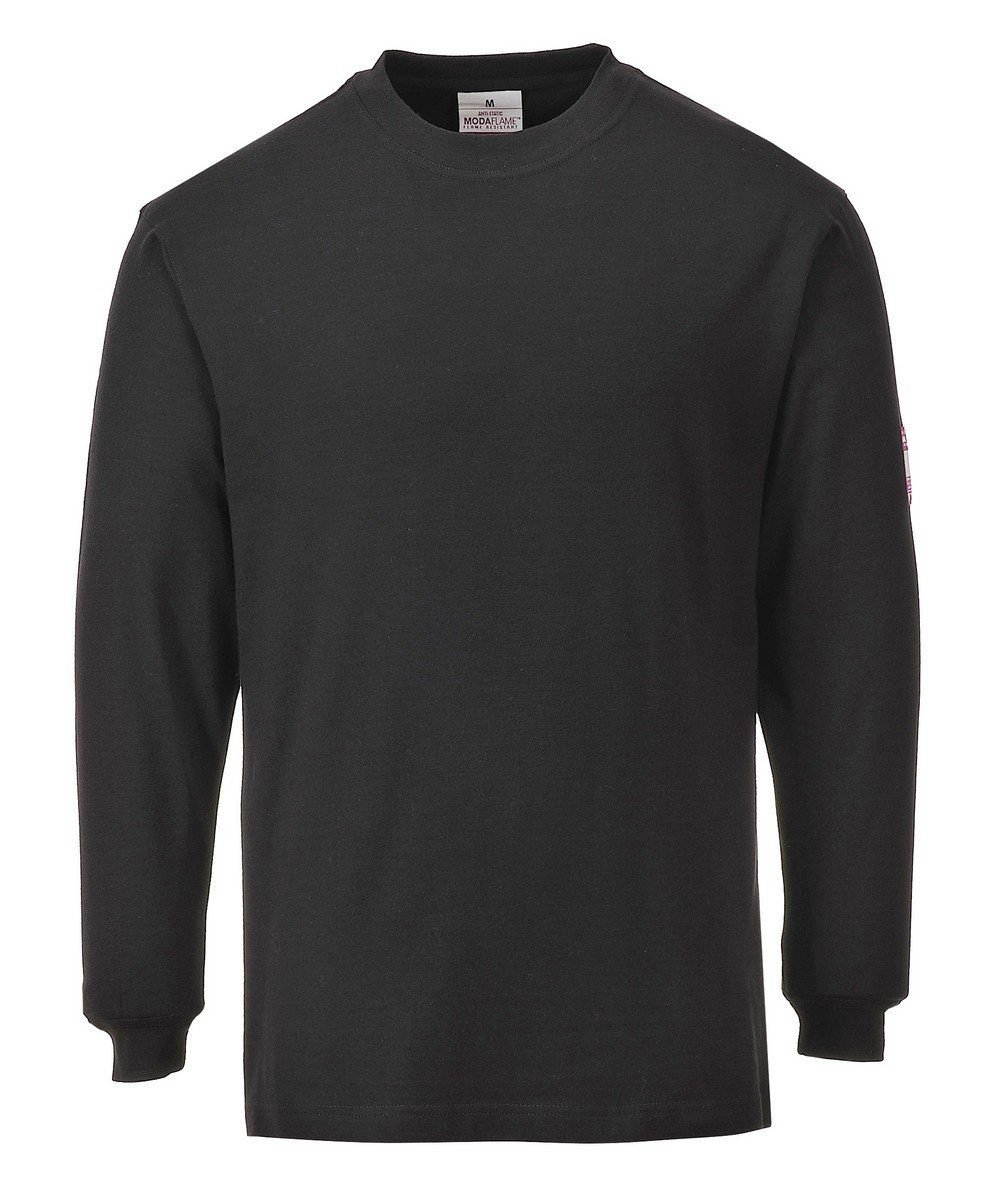 PPG Workwear Portwest Flame Retardant Anti-Static T Shirt FR11 Black Colour