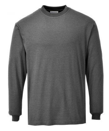PPG Workwear Portwest Flame Retardant Anti-Static T Shirt FR11 Grey Colour