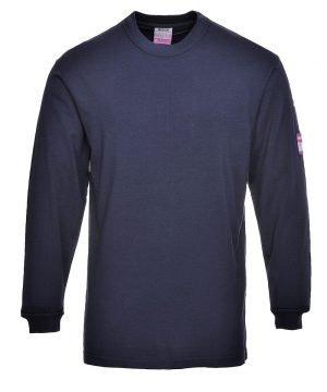 PPG Workwear Portwest Flame Retardant Anti-Static T Shirt FR11 Navy Blue Colour