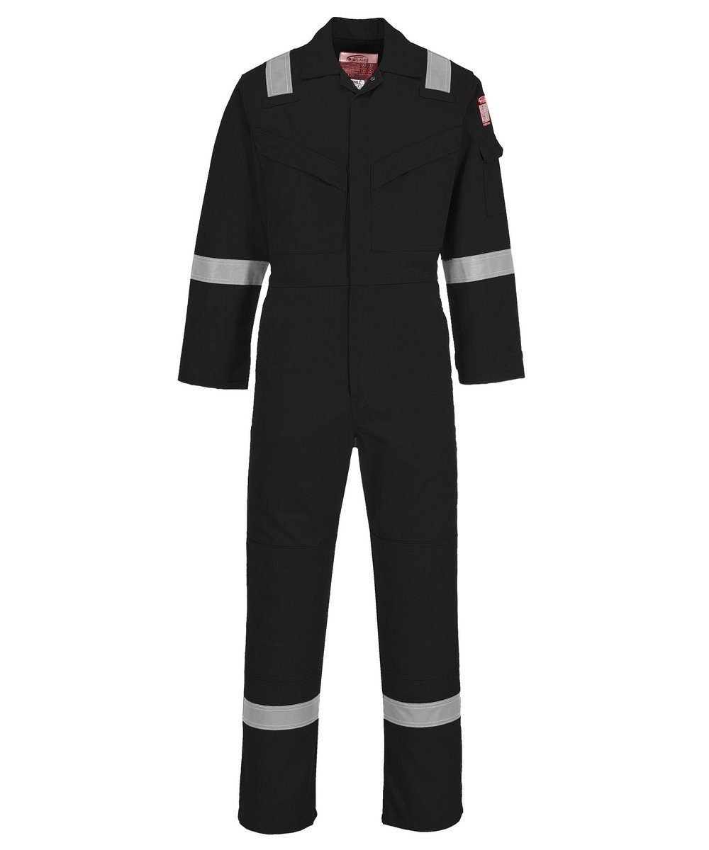 PPG Workwear Portwest FR Anti-Static Super Lightweight Coverall FR21 Black Colour