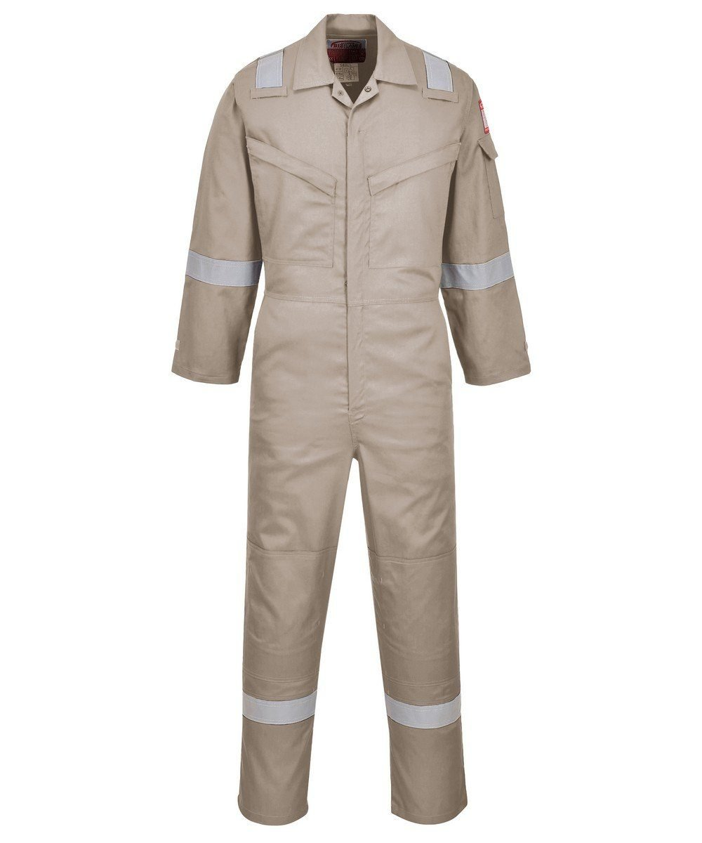 PPG Workwear Portwest FR Anti-Static Super Lightweight Coverall FR21 Khaki Colour
