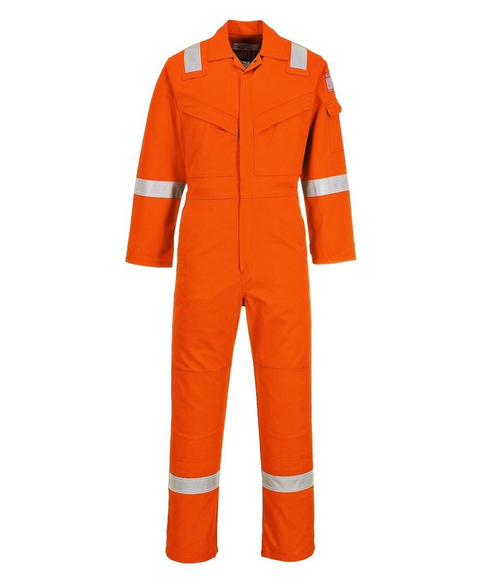 PPG Workwear Portwest FR Anti-Static Super Lightweight Coverall FR21 Orange Colour