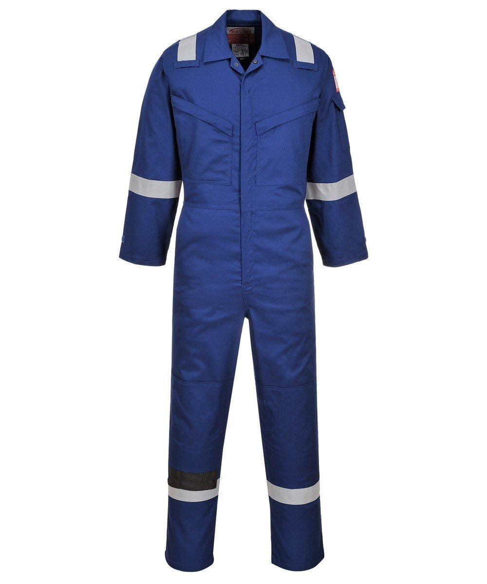 PPG Workwear Portwest FR Anti-Static Super Lightweight Coverall FR21 Royal Blue Colour