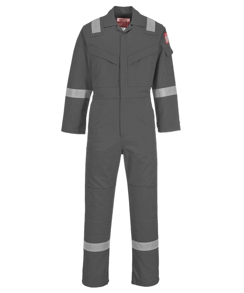 PPG Workwear Portwest Flame Retardant Anti-Static Lightweight Coverall FR28 Grey Colour