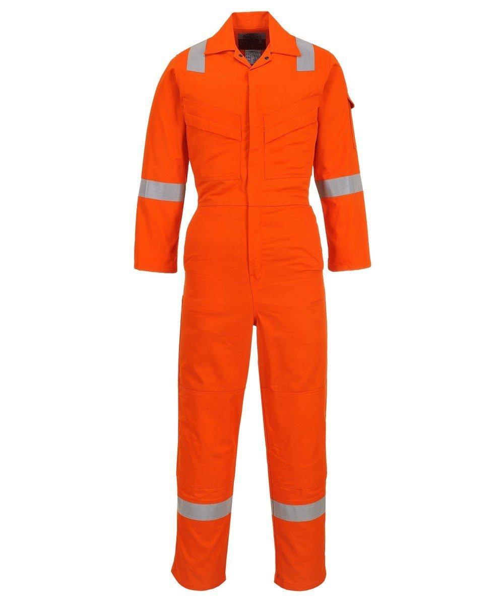 PPG Workwear Portwest Flame Retardant Anti-Static Lightweight Coverall FR28 Orange Colour