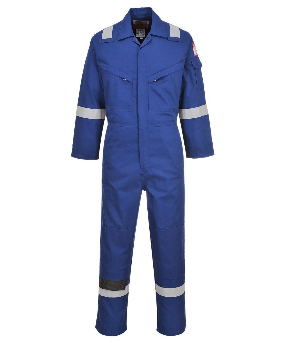 PPG Workwear Portwest Flame Retardant Anti-Static Lightweight Coverall FR28 Royal Blue Colour