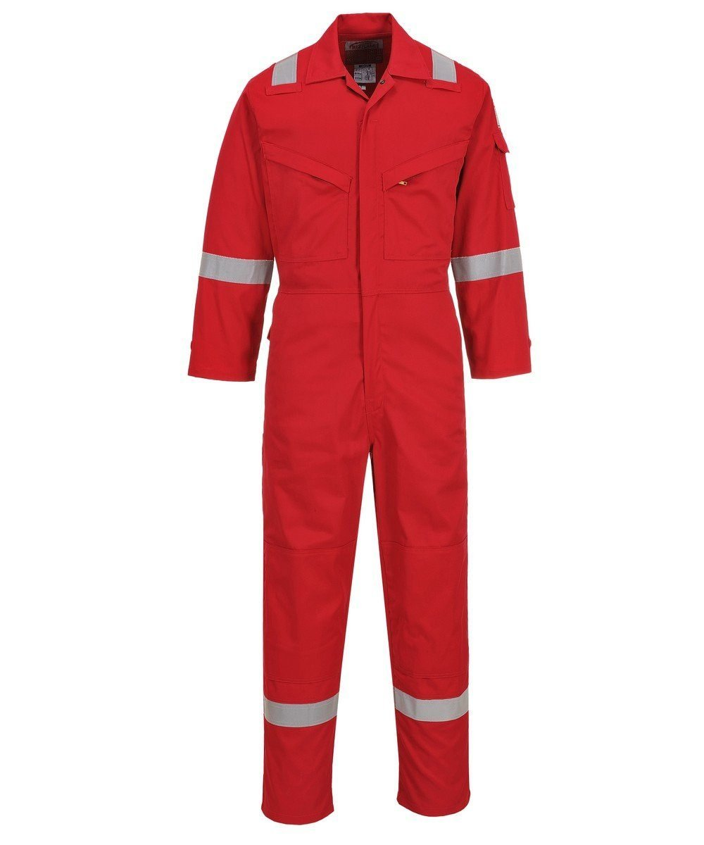 PPG Workwear Portwest Flame Retardant Anti-Static Lightweight Coverall FR28 Red Colour