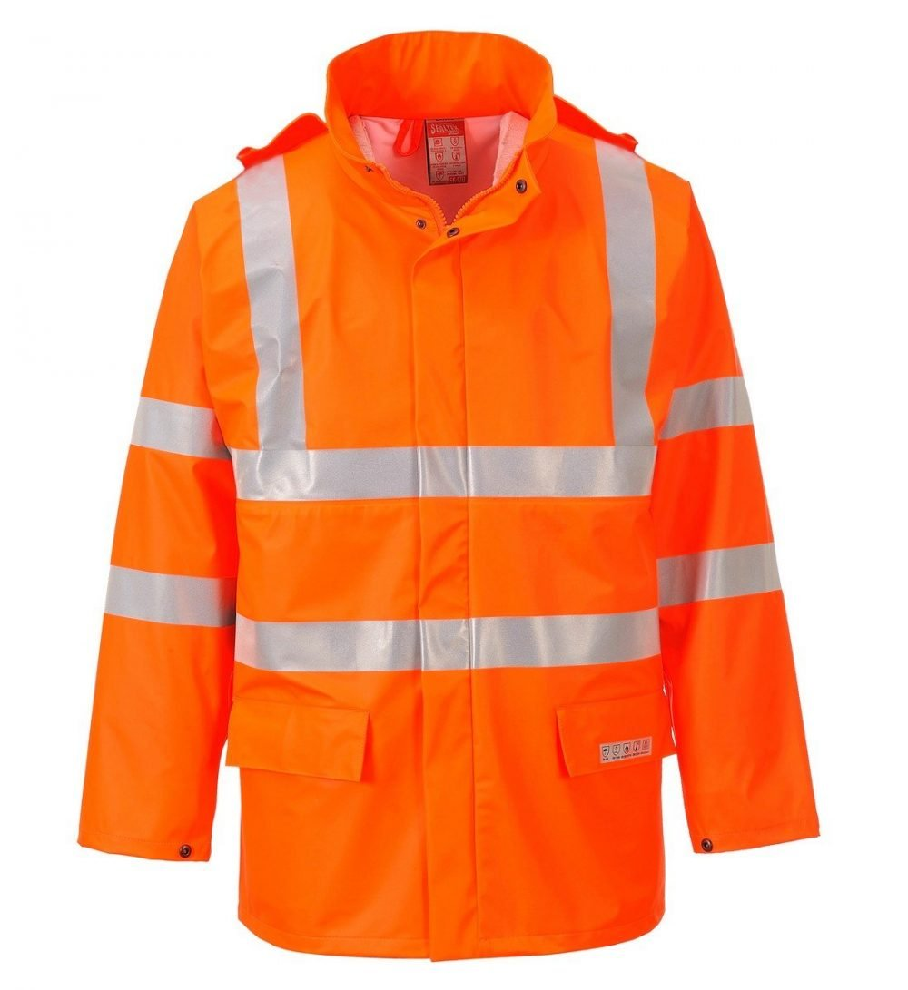 PPG Workwear Portwest Sealtex Flame FR Hi Vis Jacket FR41 Orange Colour