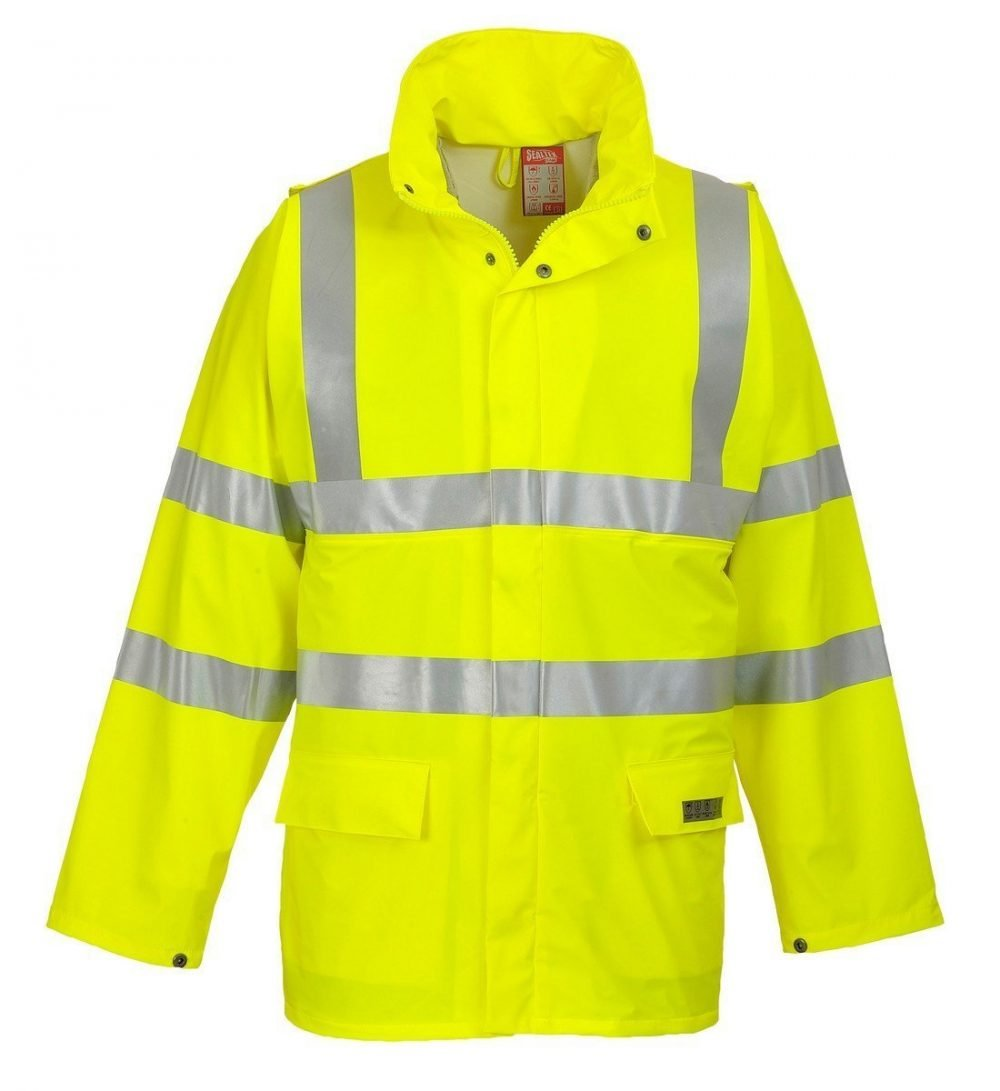 PPG Workwear Portwest Sealtex Flame FR Hi Vis Jacket FR41 Yellow Colour