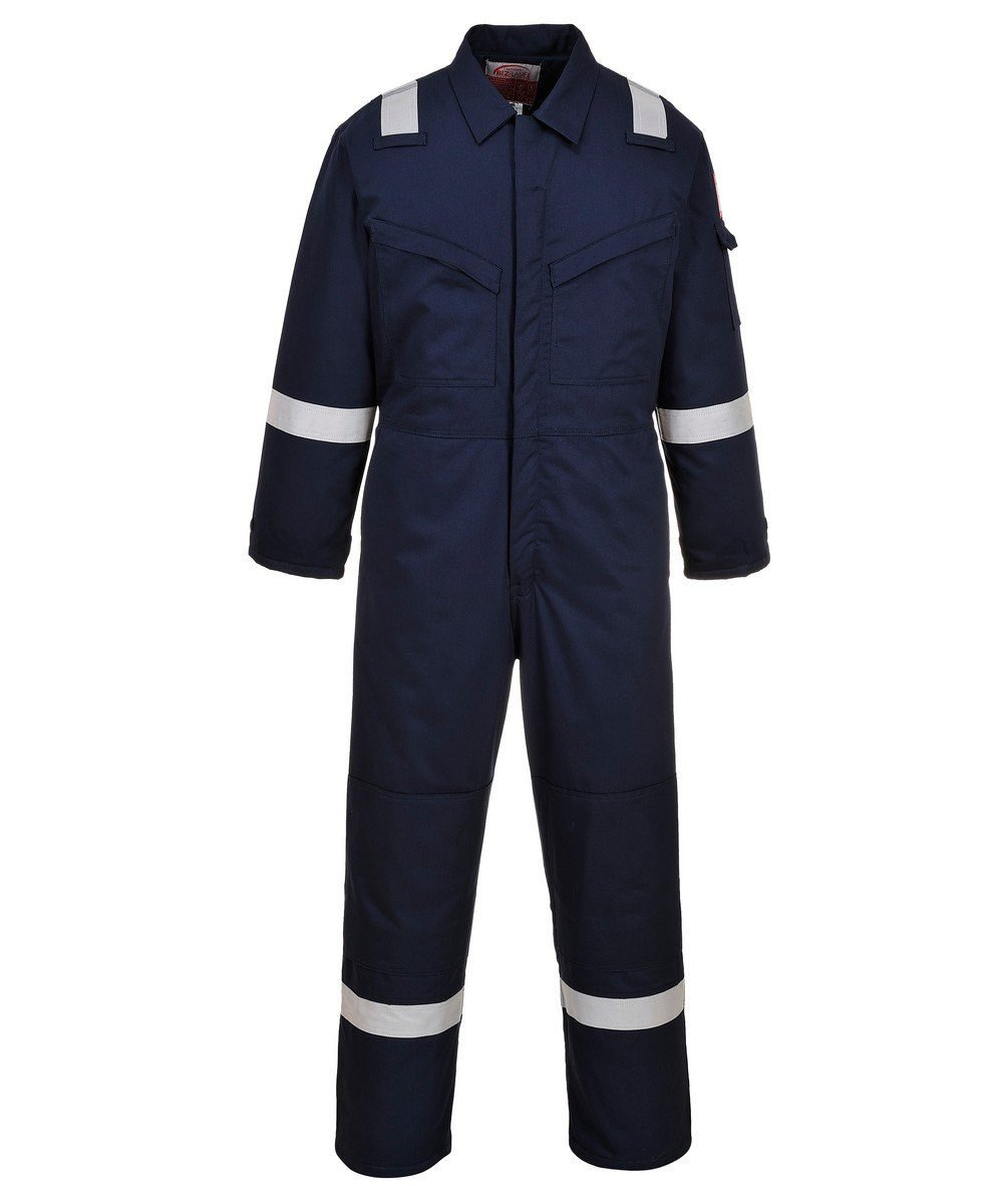 Portwest FR Anti-Static Padded Winter Coverall FR52 Navy Blue Colour