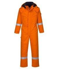 PPG Workwear Portwest Flame Retardant Anti-Static Winter Coverall FR53 Orange Colour