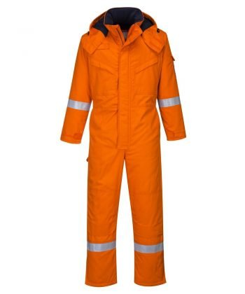 PPG Workwear Portwest Flame Retardant Anti-Static Winter Coverall FR53 Orange Colour