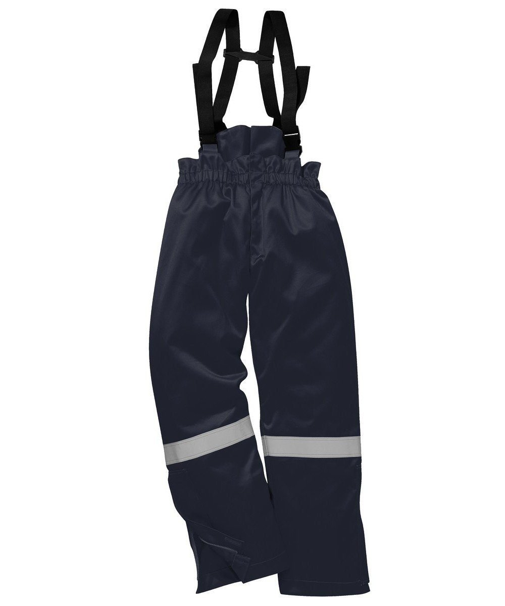 PPG Workwear Portwest Flame Retardant Anti-Static Winter Salopettes FR58 Navy Blue Colour
