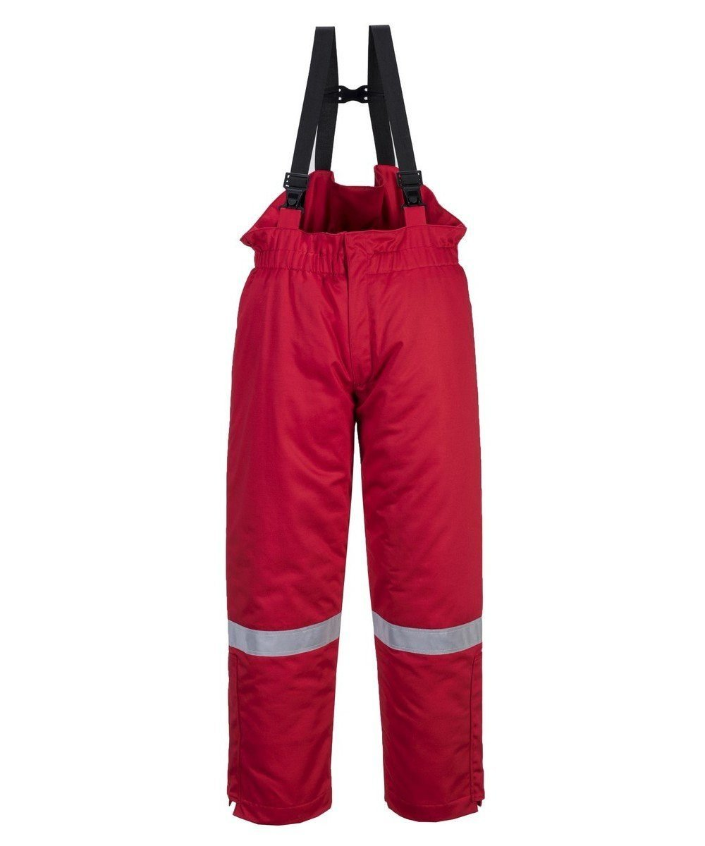 PPG Workwear Portwest Flame Retardant Anti-Static Winter Salopettes FR58 Red Colour