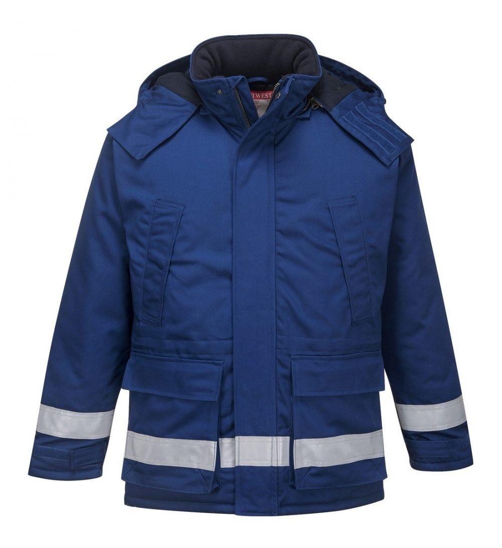 Portwest Flame Retardant Anti-Static Winter Jacket FR59 Royal Blue Colour