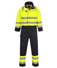 PPG Workwear Portwest Hi Vis Multi-Norm FR Anti-Static Coverall FR60 Yellow and Navy Blue Colour
