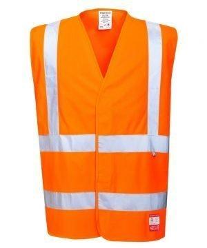 PPG Workwear Portwest Anti Static Flame Retardant Hi Vis Vest FR71 Orange Colour