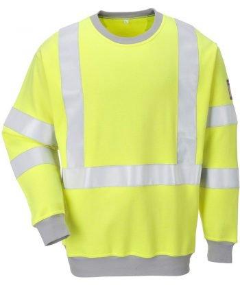Portwest Flame Retardant Hi Vis Anti-Static Sweatshirt FR72 Yellow Colour