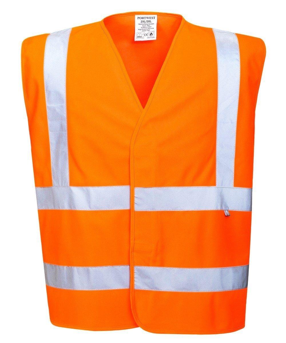 PPG Workwear Portwest Flame Retardant Hi Vis Vest FR75 Orange Colour