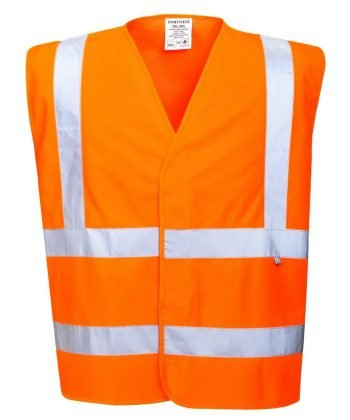 PPG Workwear Portwest Flame Retardant Hi Vis Vest FR75 Orange Colour