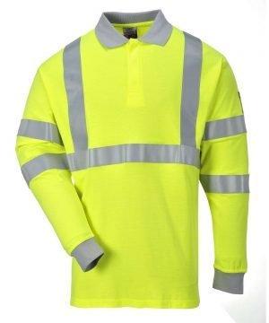 PPG Workwear Portwest Flame Retardant Hi Vis Anti-Static Polo Shirt FR77 Yellow Colour
