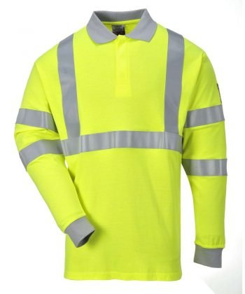 PPG Workwear Portwest Flame Retardant Hi Vis Anti-Static Polo Shirt FR77 Yellow Colour