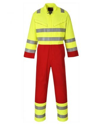 Portwest Bizflame Services FR Anti-Static Coverall FR90 Yellow and Red Colour