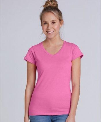 Gildan Ladies Soft Style V-Neck T Shirt 64V00L