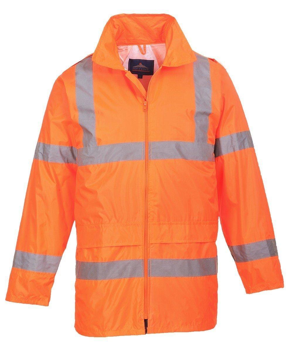 PPG Workwear Portwest Hi Vis Rain Jacket H440 Orange Colour