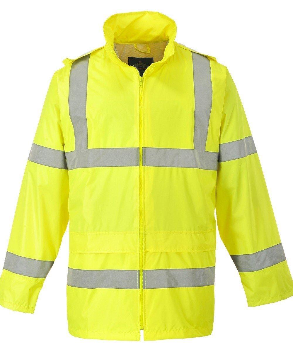 PPG Workwear Portwest Hi Vis Rain Jacket H440 Yellow Colour