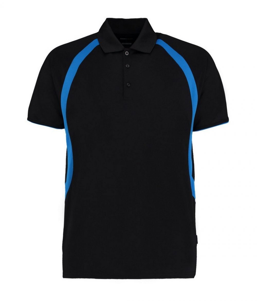 PPG Workwear Gamegear Mens Cooltex Riviera Polo Shirt KK974 Black and Blue Colour