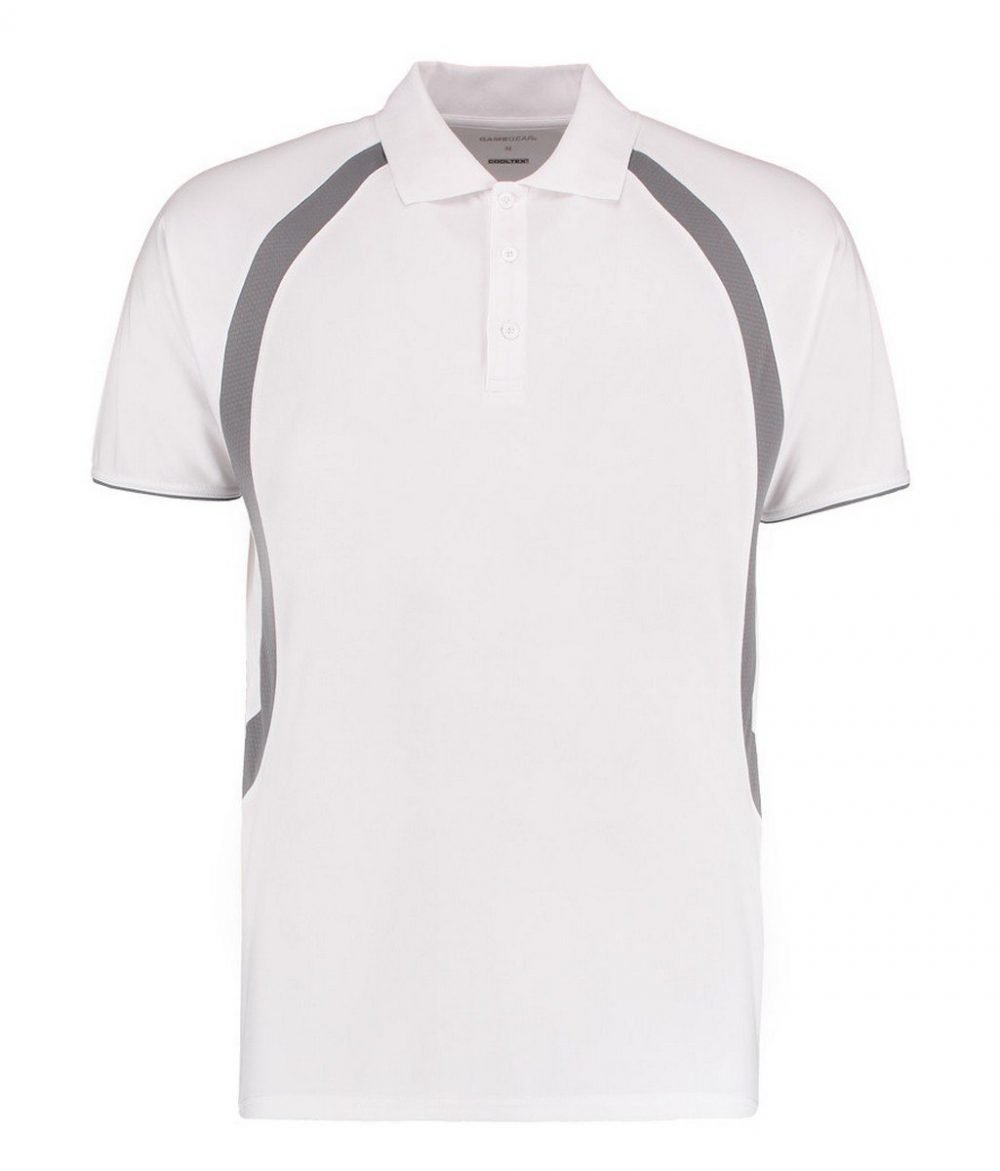 PPG Workwear Gamegear Mens Cooltex Riviera Polo Shirt KK974 White and Grey Colour
