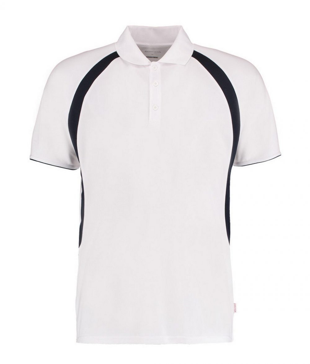 PPG Workwear Gamegear Mens Cooltex Riviera Polo Shirt KK974 White and Navy Blue Colour