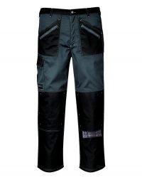 Portwest Chrome Trousers KS12 Black and Grey Colour
