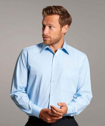 PPG Workwear Disley Mens Classic Collar Shirt Light Blue Colour