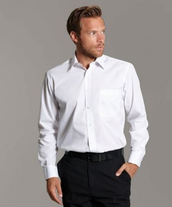 Disley Mens Classic Collar Shirt White Colour