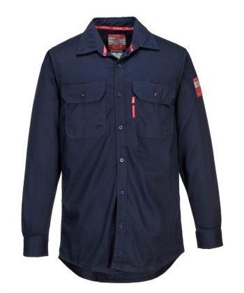 Portwest Bizflame 88/12 Flame Retardant Shirt FR89 Navy Colour Front View