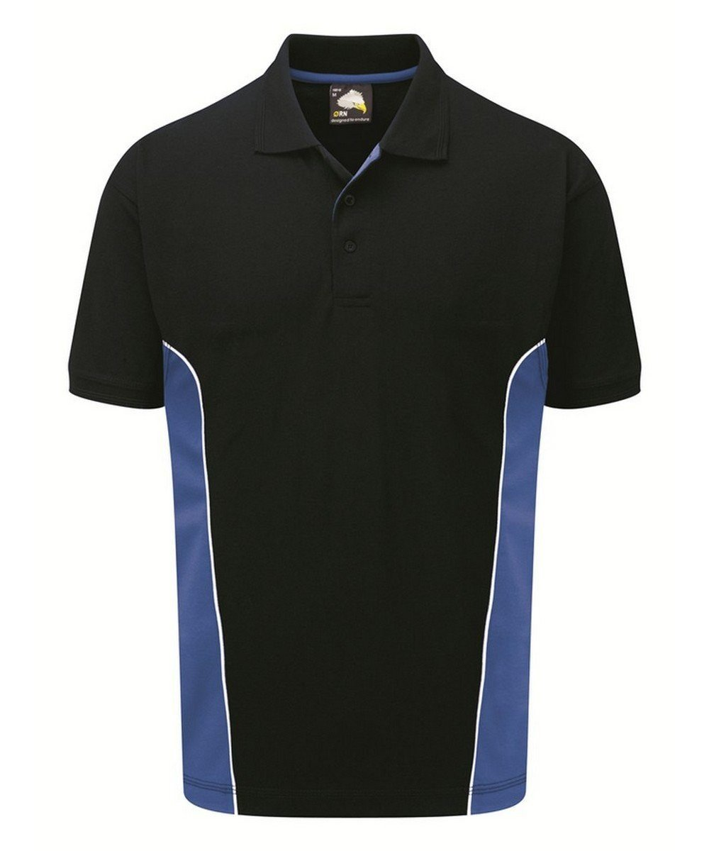 Orn Silverstone Two Tone Premium Polo Shirt 1180 Navy Blue and Royal Blue Colour