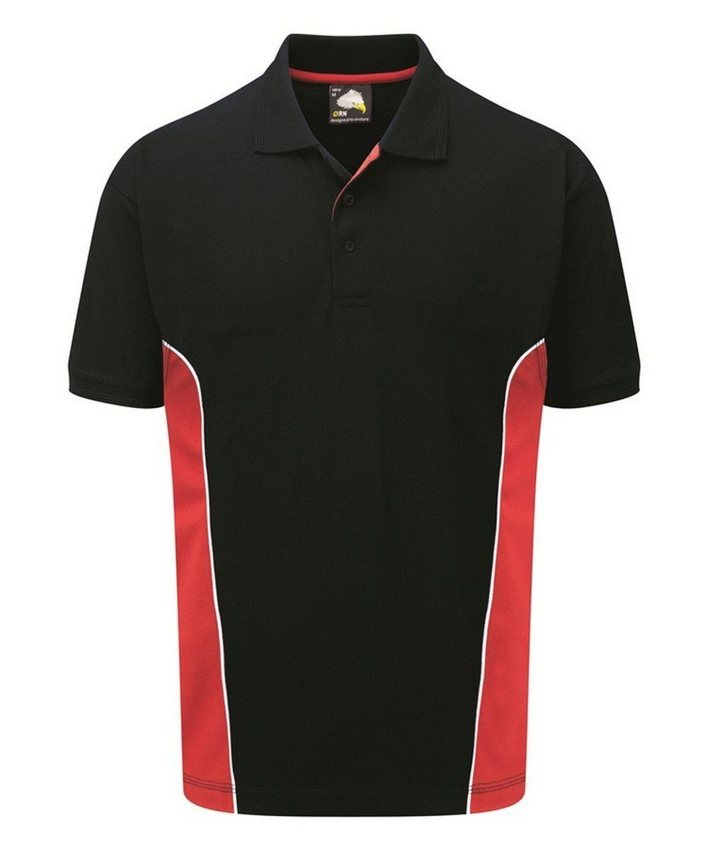 PPG Workwear Orn Silverstone Two Tone Premium Polo Shirt 1180 Navy Blue and Red Colour
