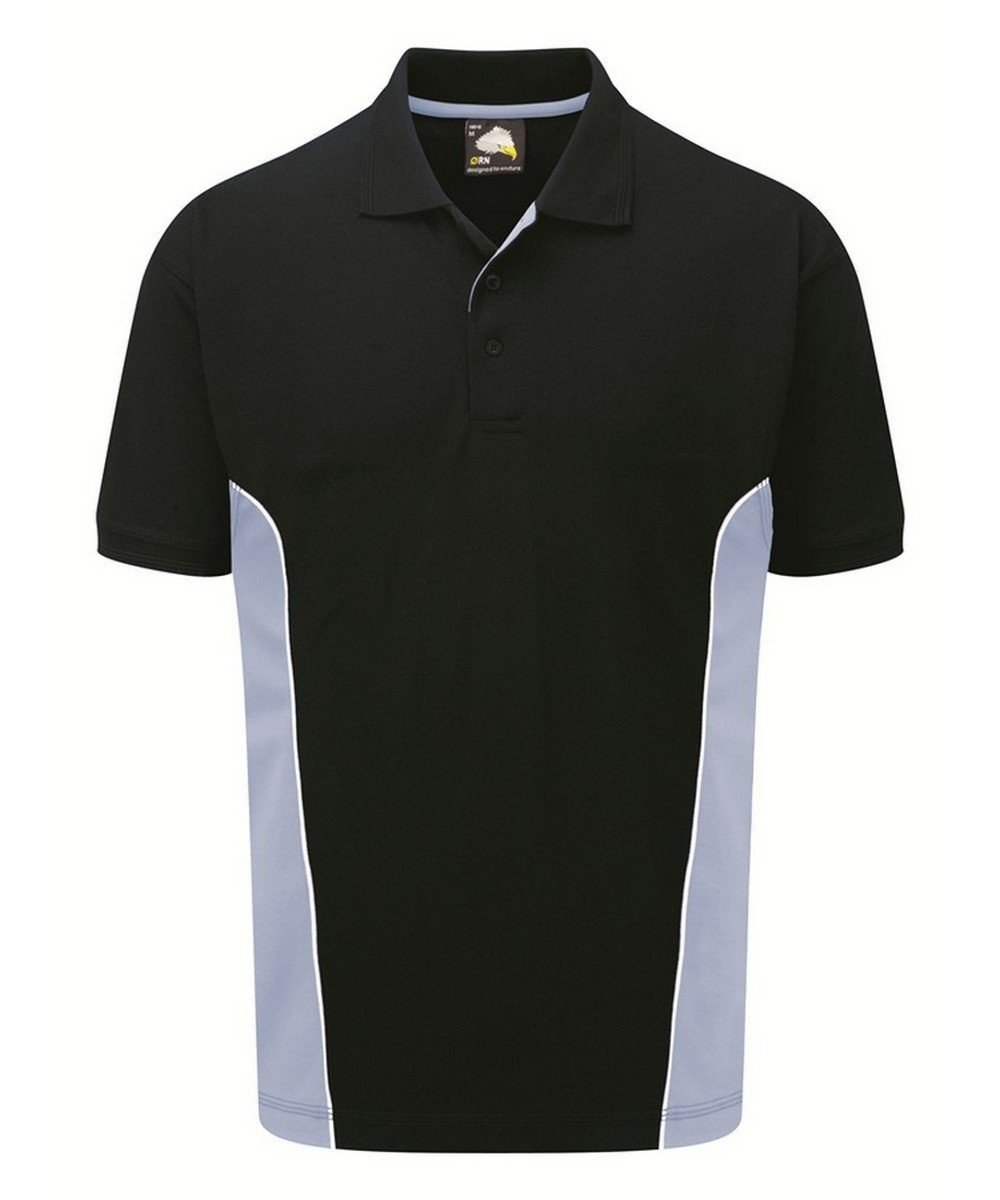 Orn Silverstone Two Tone Premium Polo Shirt 1180 Navy Blue and Sky Blue Colour