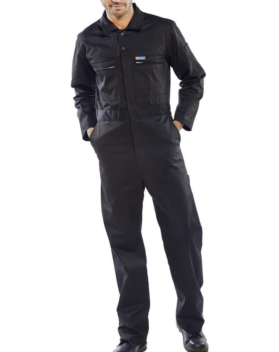 PPG Workwear Super Click Boilersuit PCBSHW Black Colour