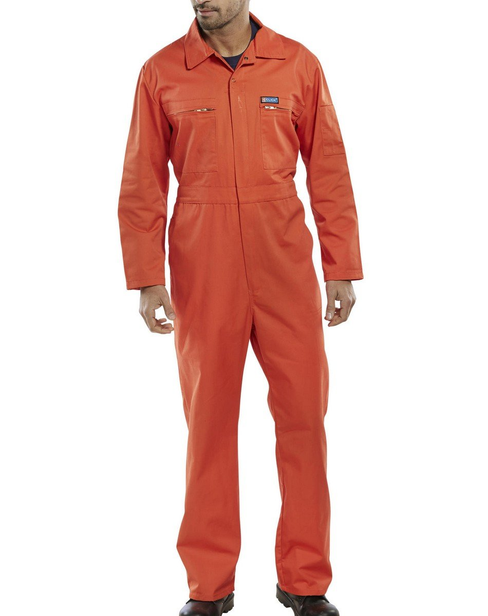 PPG Workwear Super Click Boilersuit PCBSHW Orange Colour