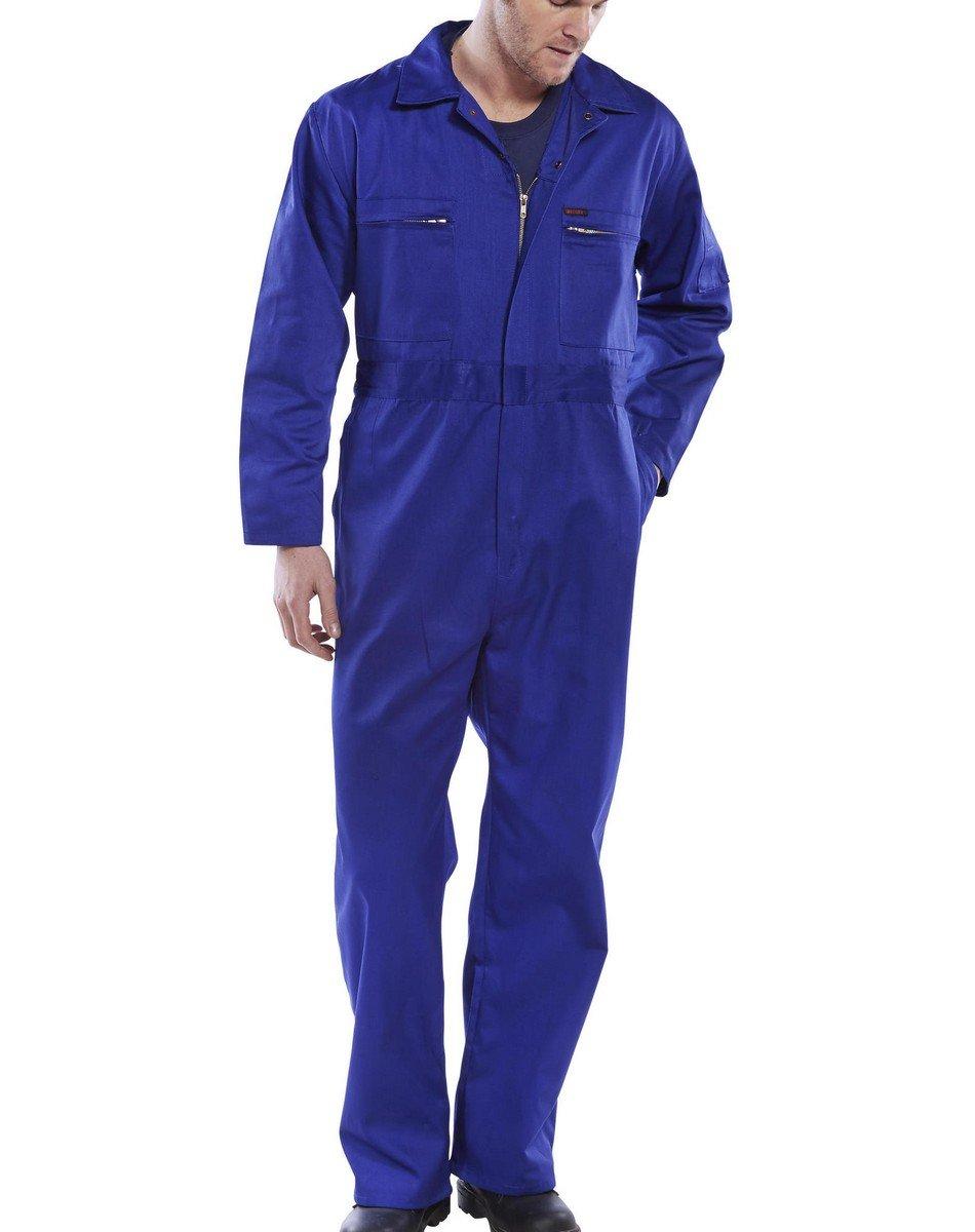 PPG Workwear Super Click Boilersuit PCBSHW Royal Blue Colour