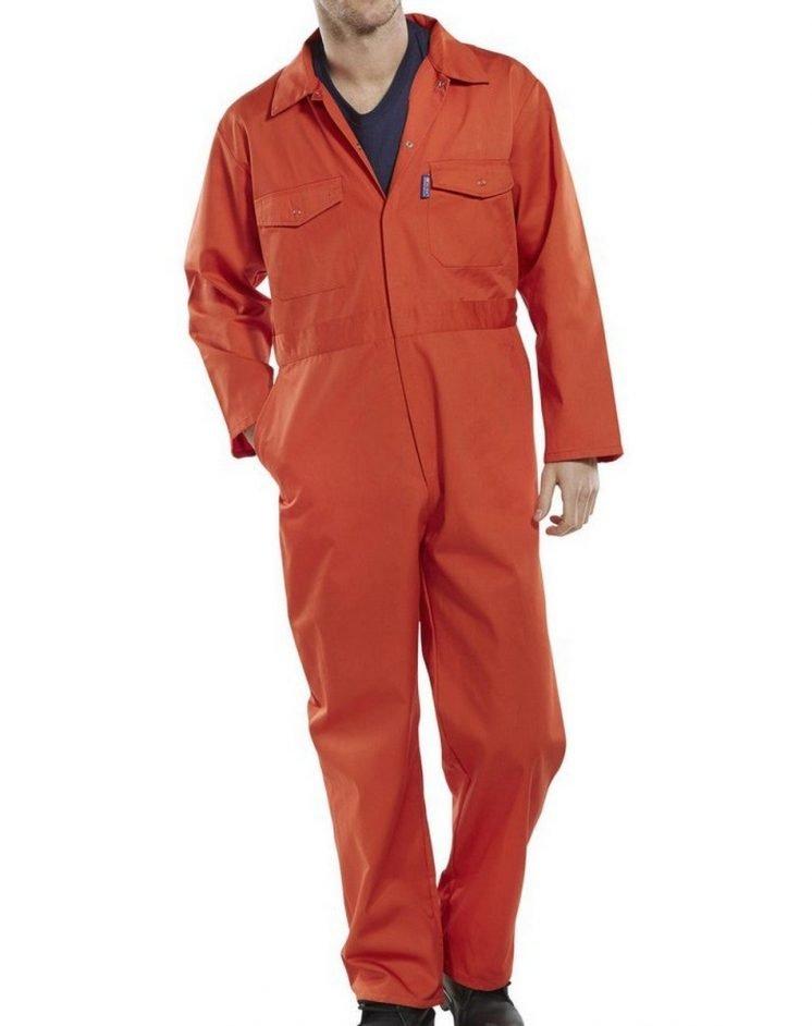 Click Boilersuit PCBS Orange Colour