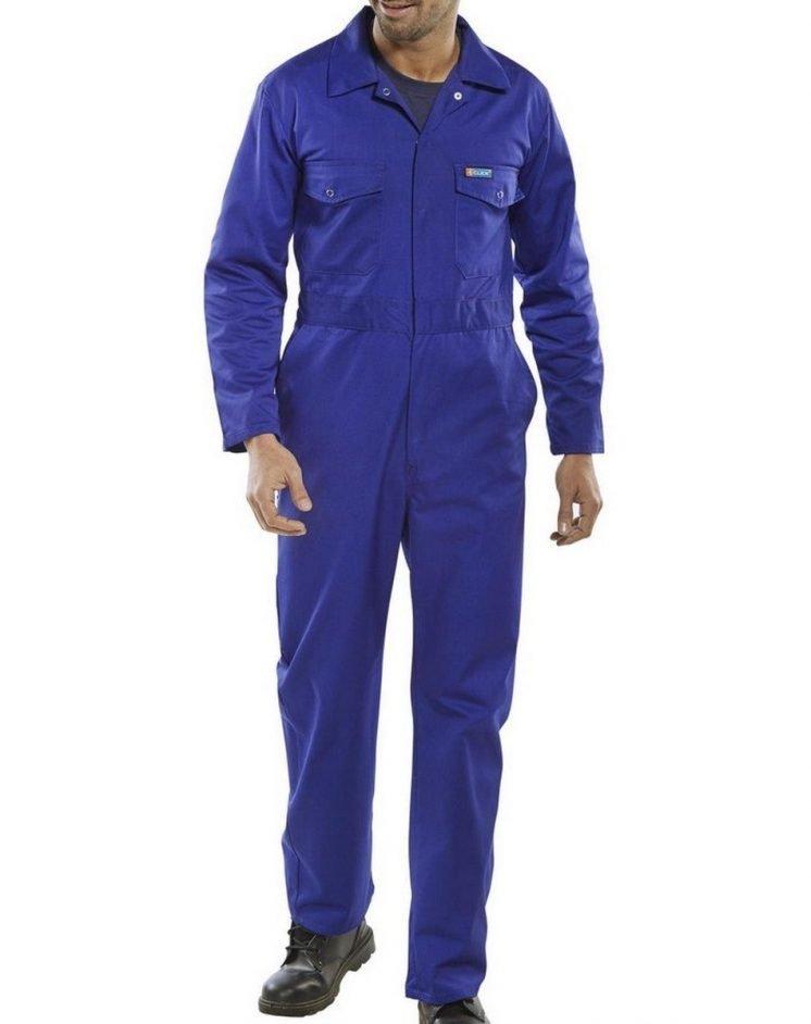 PPG Workwear Click Boilersuit PCBS Royal Blue Colour