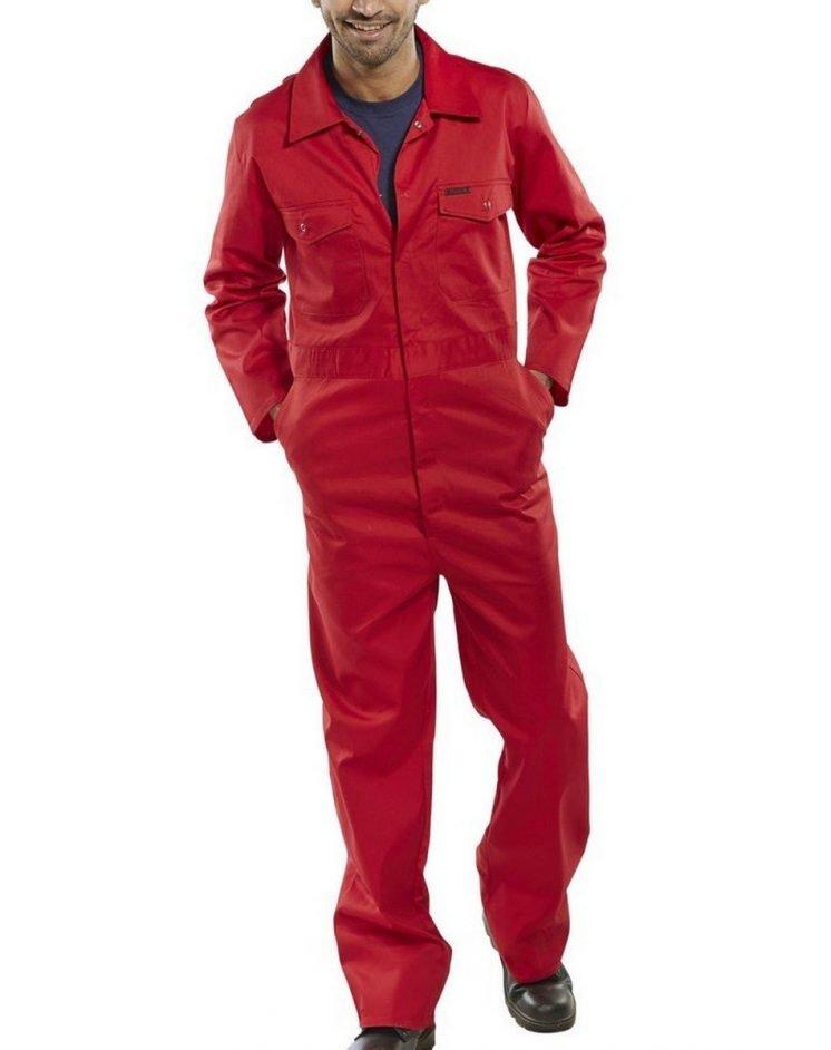 Click Boilersuit PCBS Red Colour