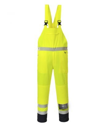 PPG Workwear Portwest Contrast Bib/Brace Unlined Yellow Colour PJ52