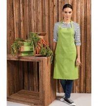 PPG Workwear Premier Cotton Bib Apron Without Pocket PR102 Lime Colour