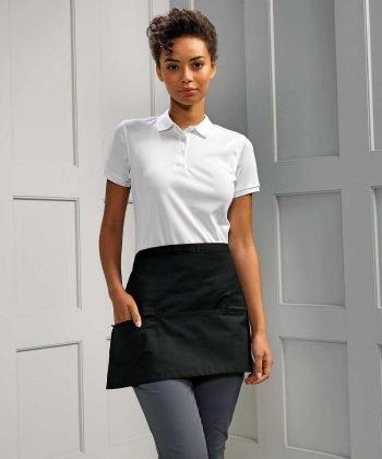 PPG Workwear Premier Zip Pocket Waist Apron PR105 Black Colour