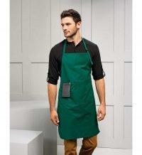 PPG Workwear Premier Deluxe Bib Apron With Pocket PR124 Bottle Green Colour